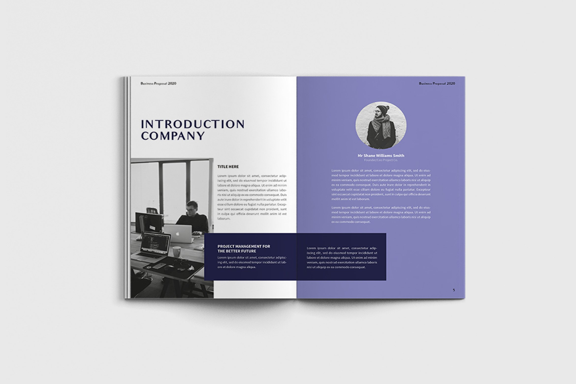 Exposina - A4 Business Brochure Template example image 8