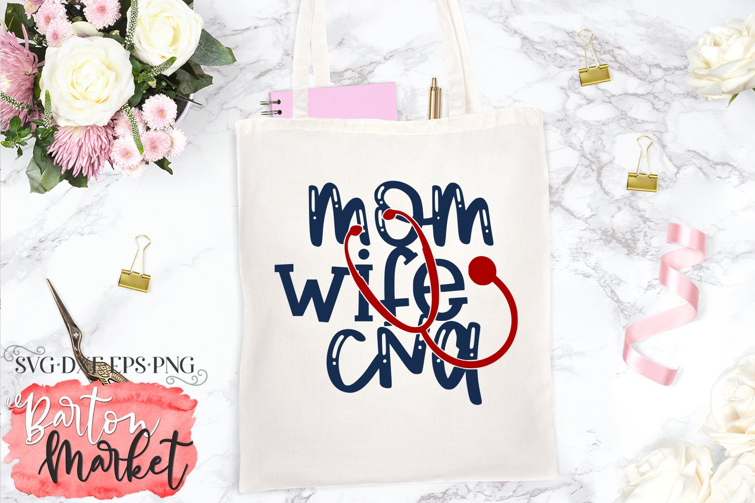 Mom Wife CNA SVG DXF EPS PNG example image 1