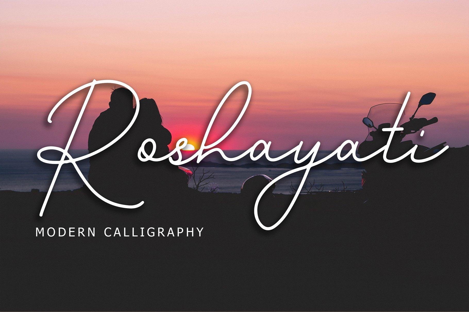 Roshayati Modern Calligraphy Font example image 1