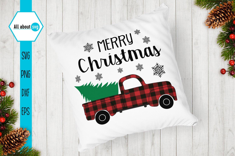 Merry Christmas Truck Svg Buffalo Plaid Christmas Truck 411168 Svgs Design Bundles