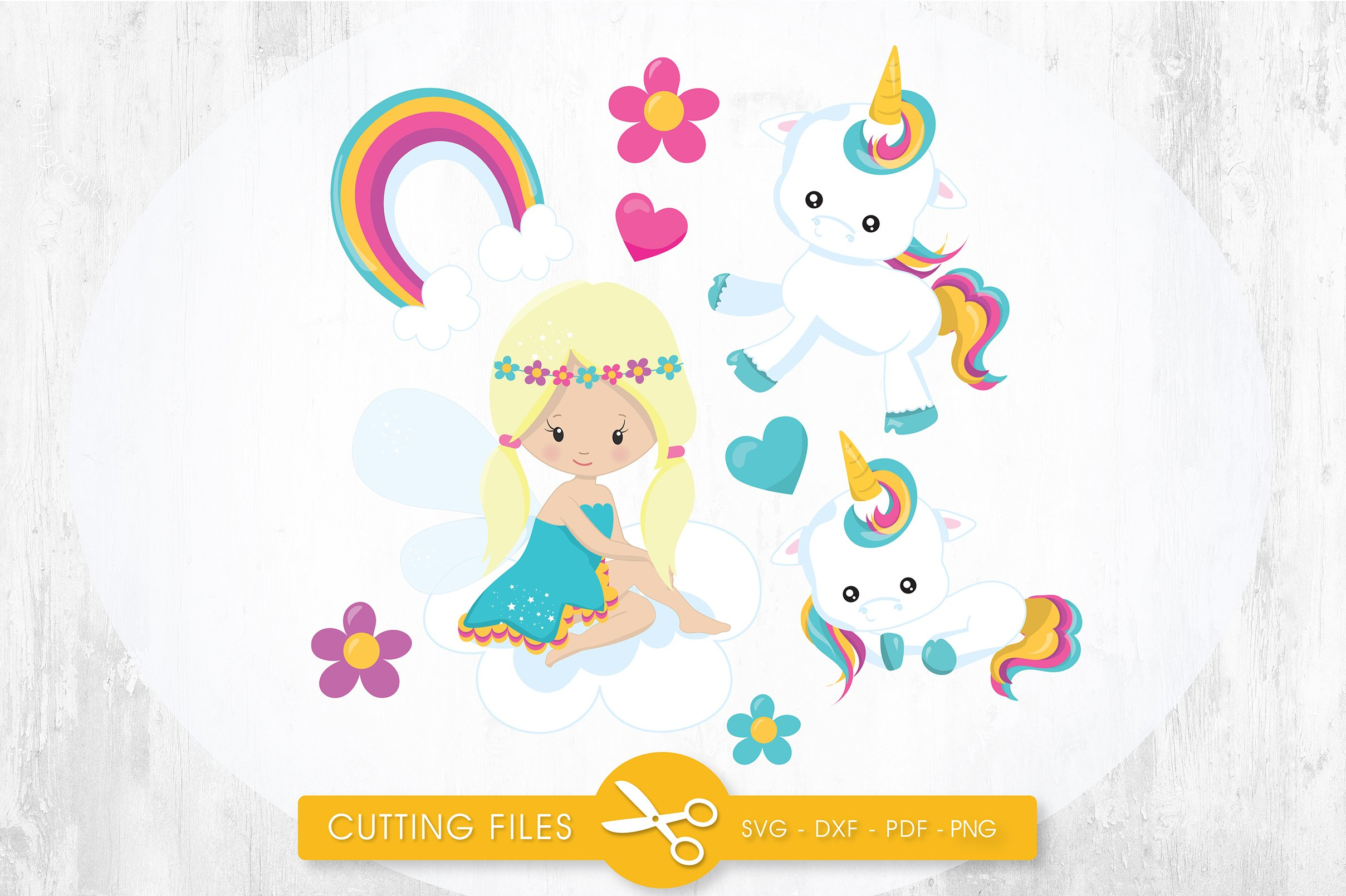 Unicorn Fairy Cutting Files Svg Dxf Pdf Eps Included Cut Files For Cricut And Silhouette Cutting Files Sg 106194 Svgs Design Bundles