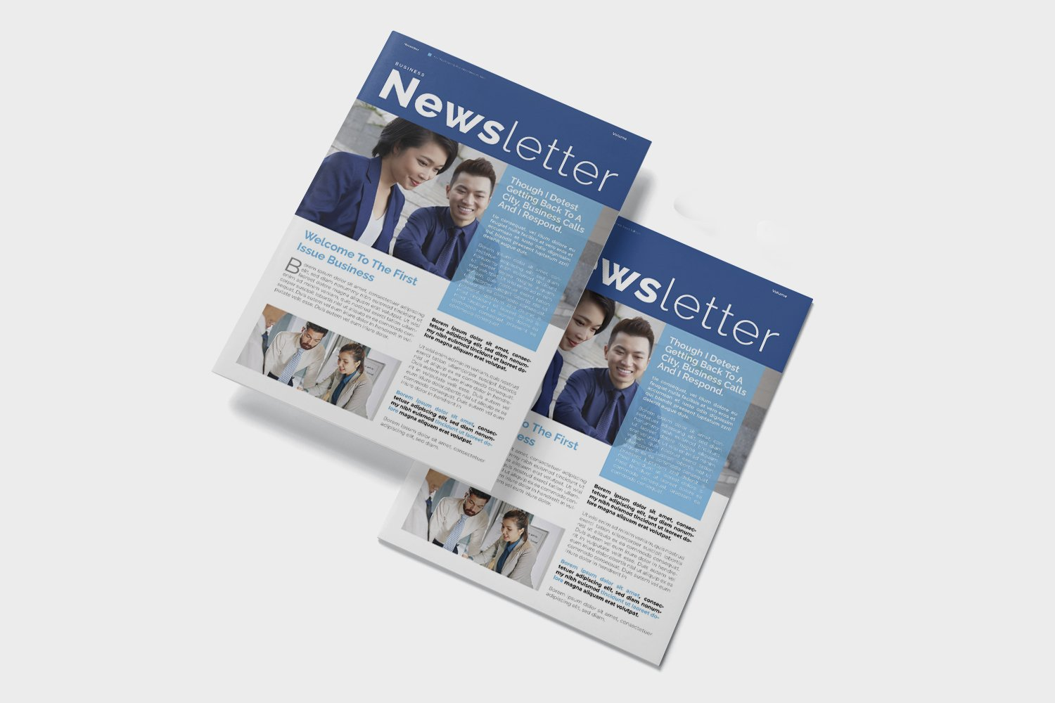 Corporate Issue Newsletter Template example image 2