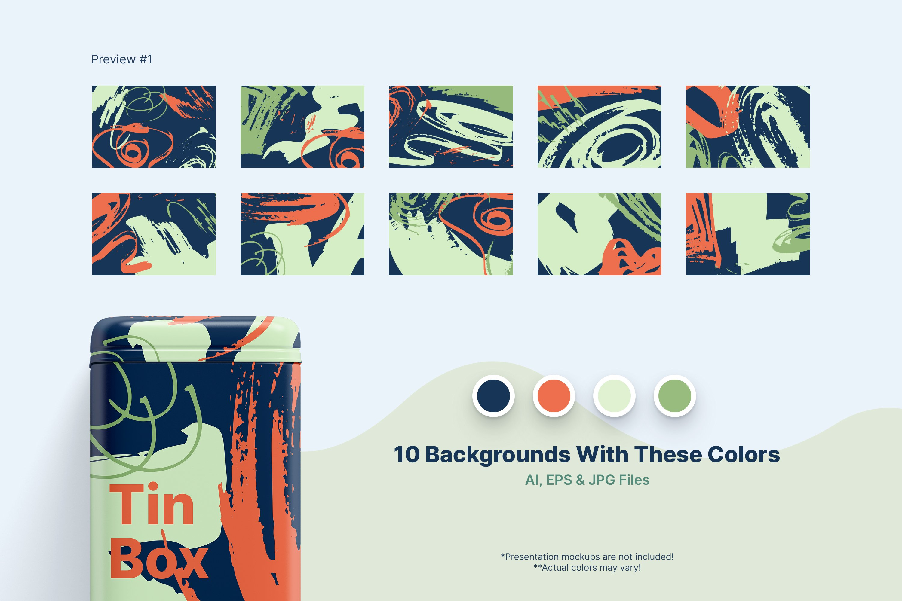 Distressed Vector Backgrounds example image 7
