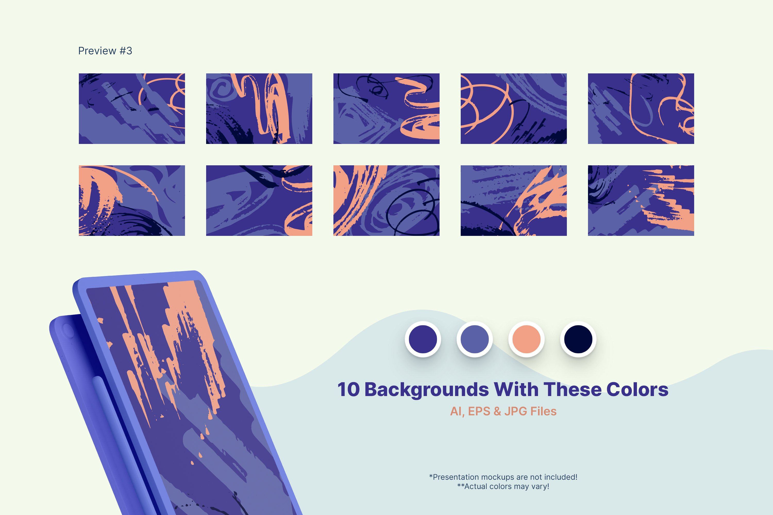 Distressed Vector Backgrounds example image 3