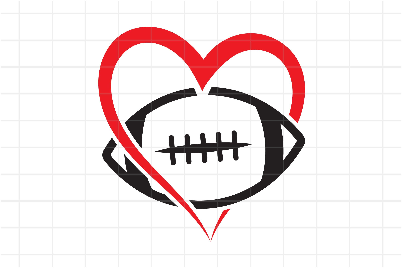 Football Svg Love Football Cut File Ball In Heart Cutting 765458 Cut Files Design Bundles
