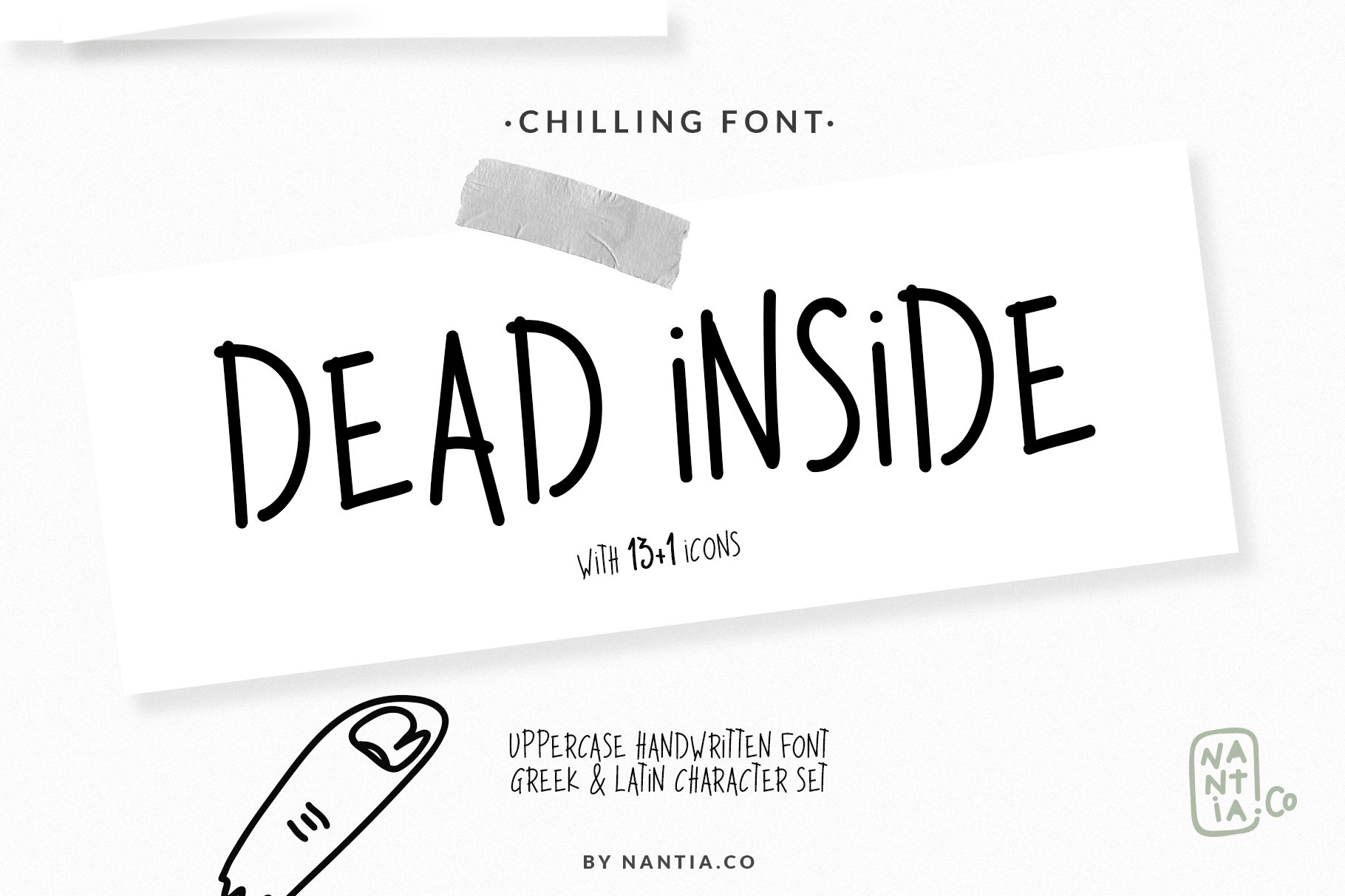Dead Inside Chilling Font example image 6