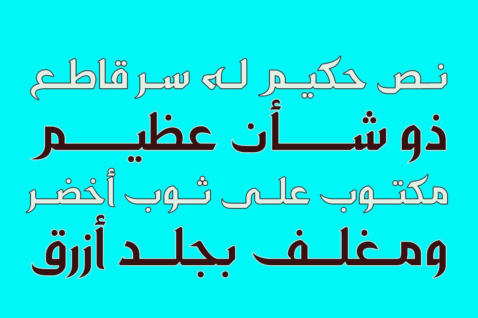 Zahey - Arabic Font example image 3