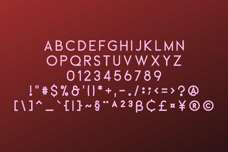 Aerof Sans Serif example image 2