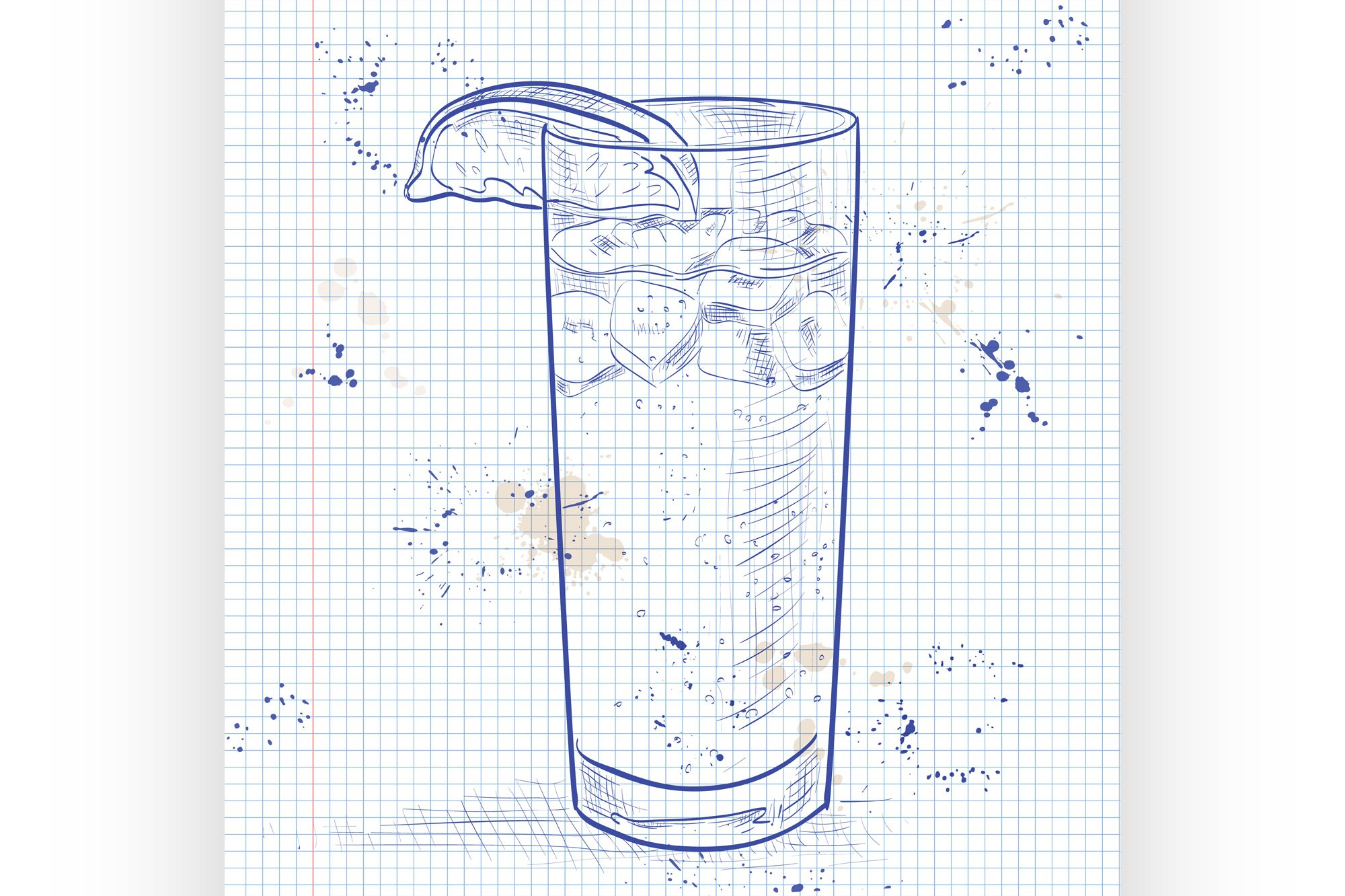 Cocktail Dark &#39N&#39 Stormy on a notebook page example image 1