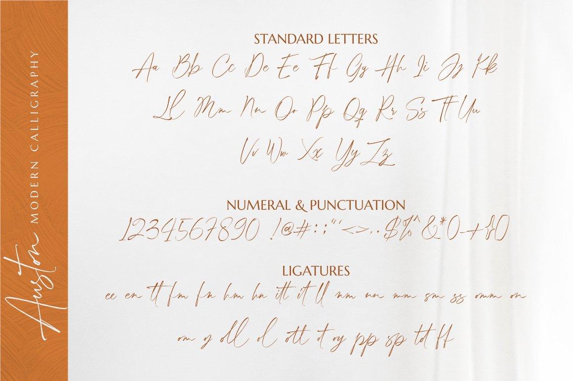 Auston - Modern Calligraphy example image 8