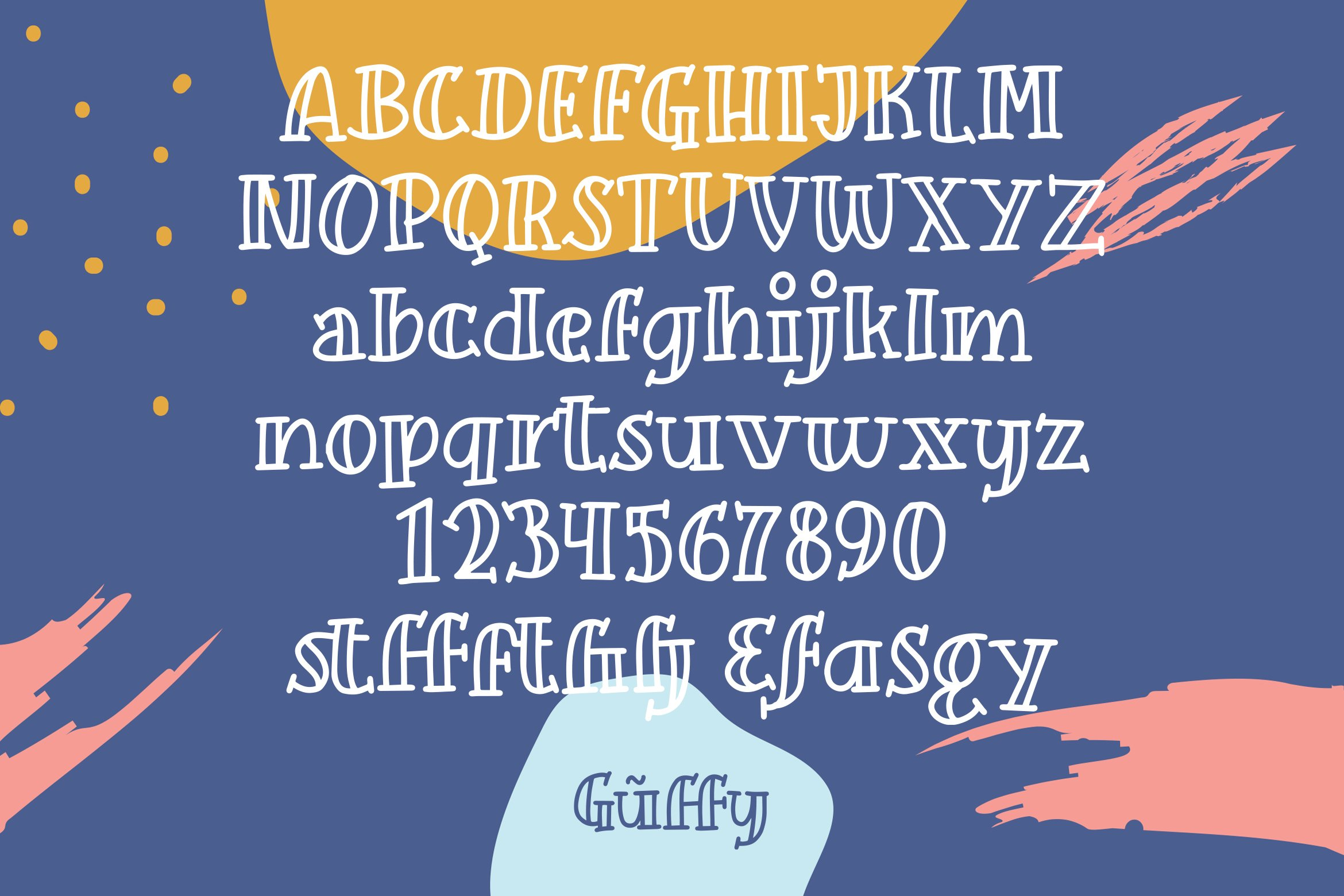 Guffy - Playful Inline Font example image 6