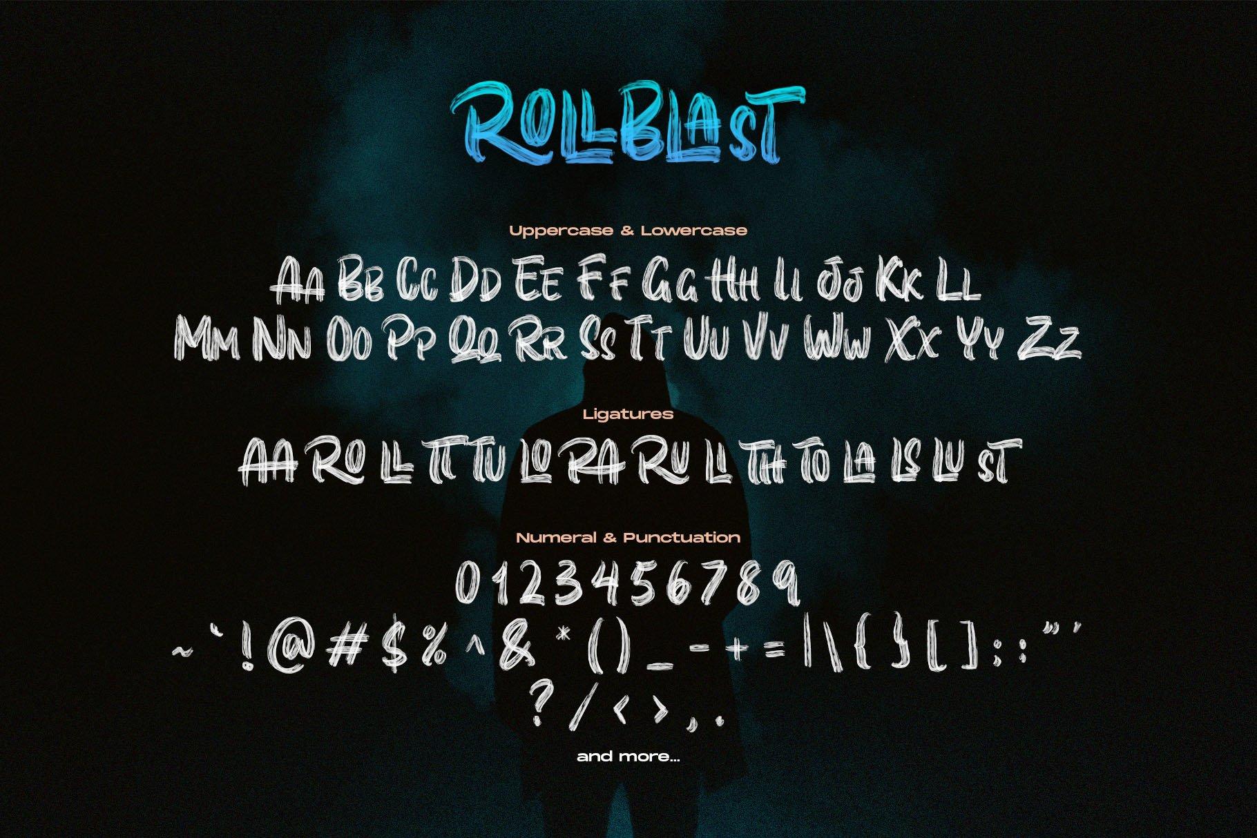 ROLLBLAST - DISPLAY FONT example image 8