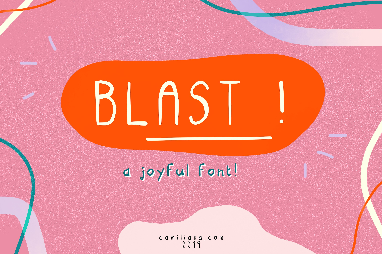 Blast - A joyful handwritten script font ! example image 3