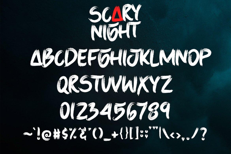 Scary Night - Handwritten Brush example image 2