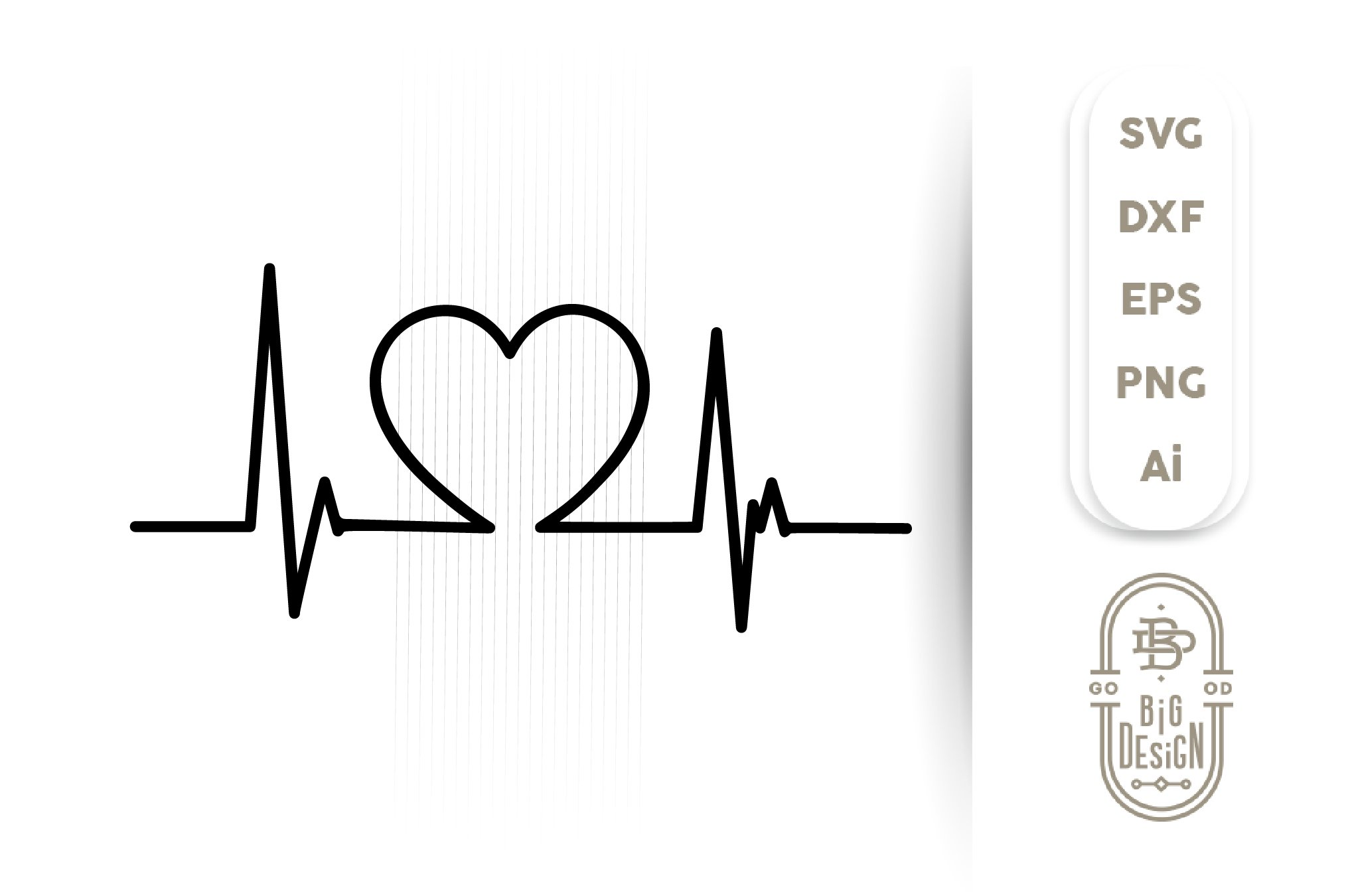 Love Nurse Heartbeat 3D All Over Sublimation Printed