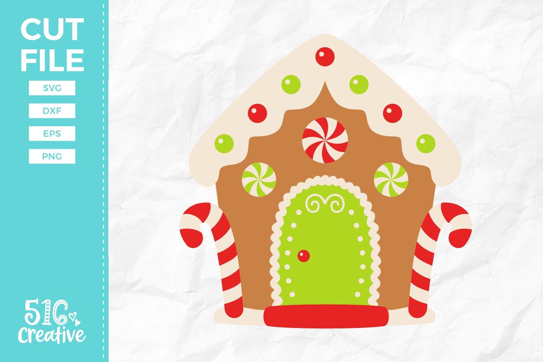 Gingerbread House Svg Dxf Eps Png 149922 Svgs Design Bundles