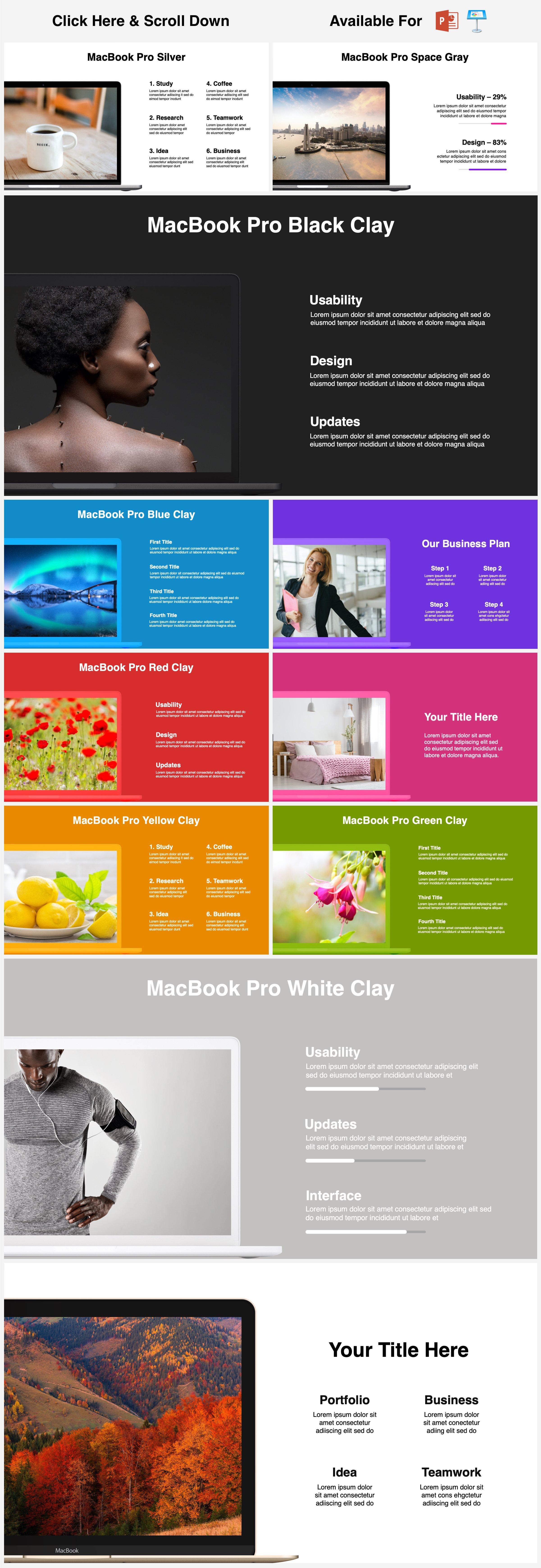 Animated Mockups Presentation Bundle. Infographic Templates. example image 12