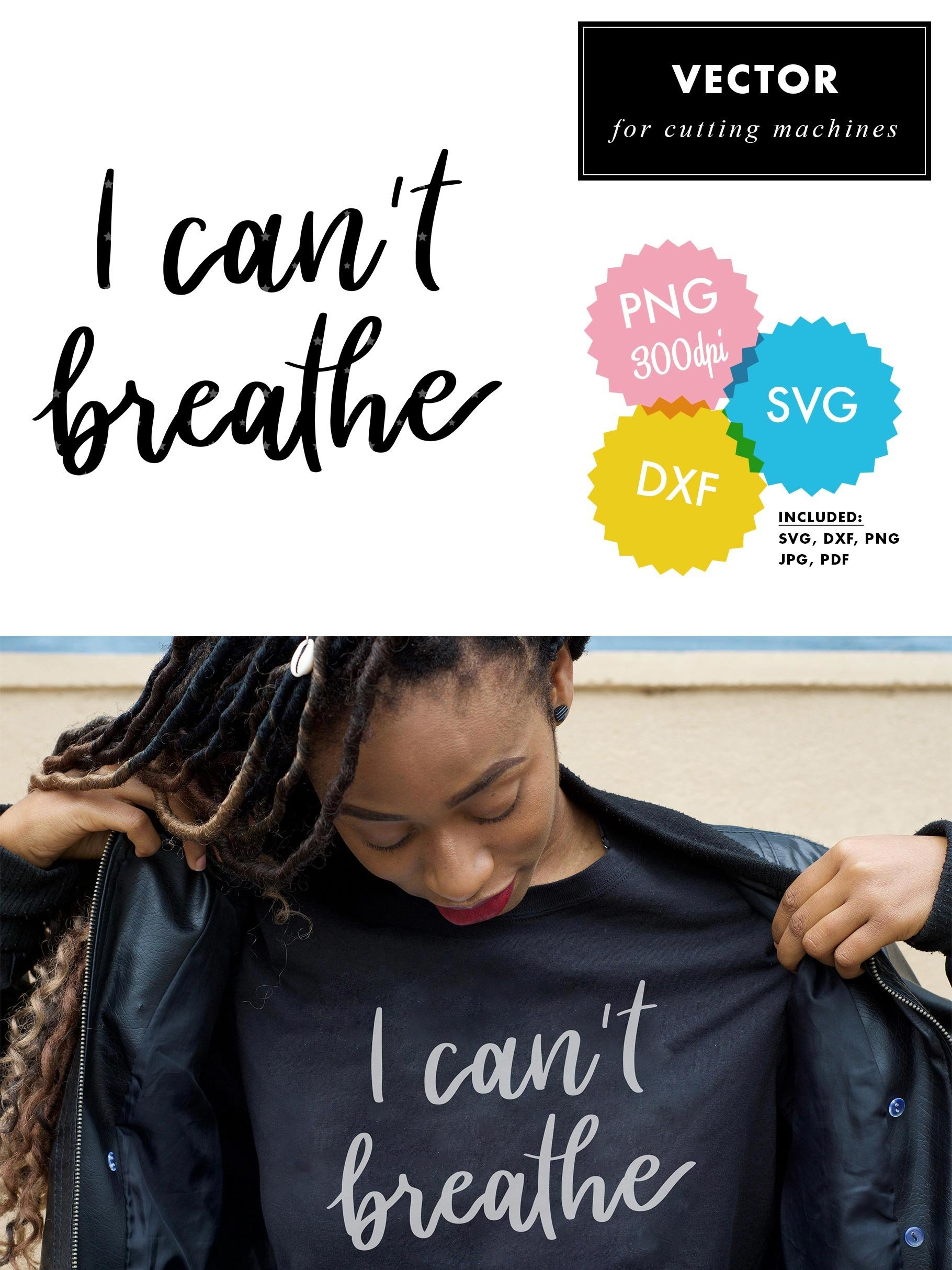 I Can T Breathe Svg Lettering Hand Script Vector Blm 650090 Hand Lettered Design Bundles