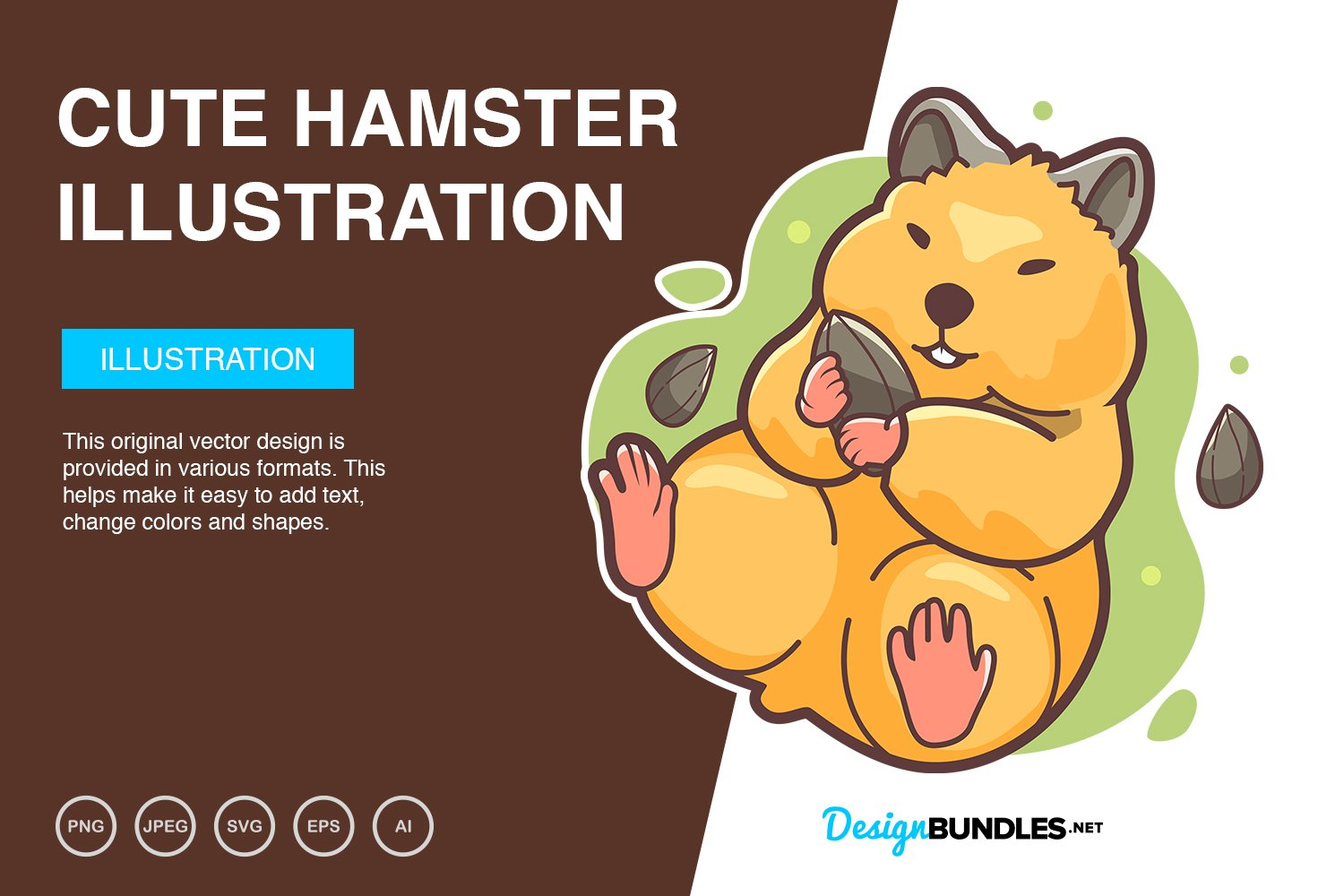 Cute Hamster Vector Illustration example image 1
