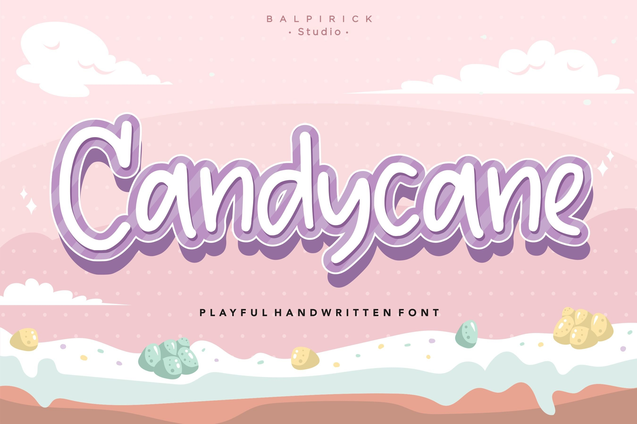 Candycane Playful Handwritten Font example image 1