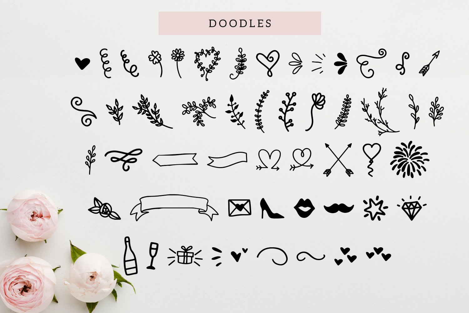 Maid Of Honor - A script font with matching doodles example image 4