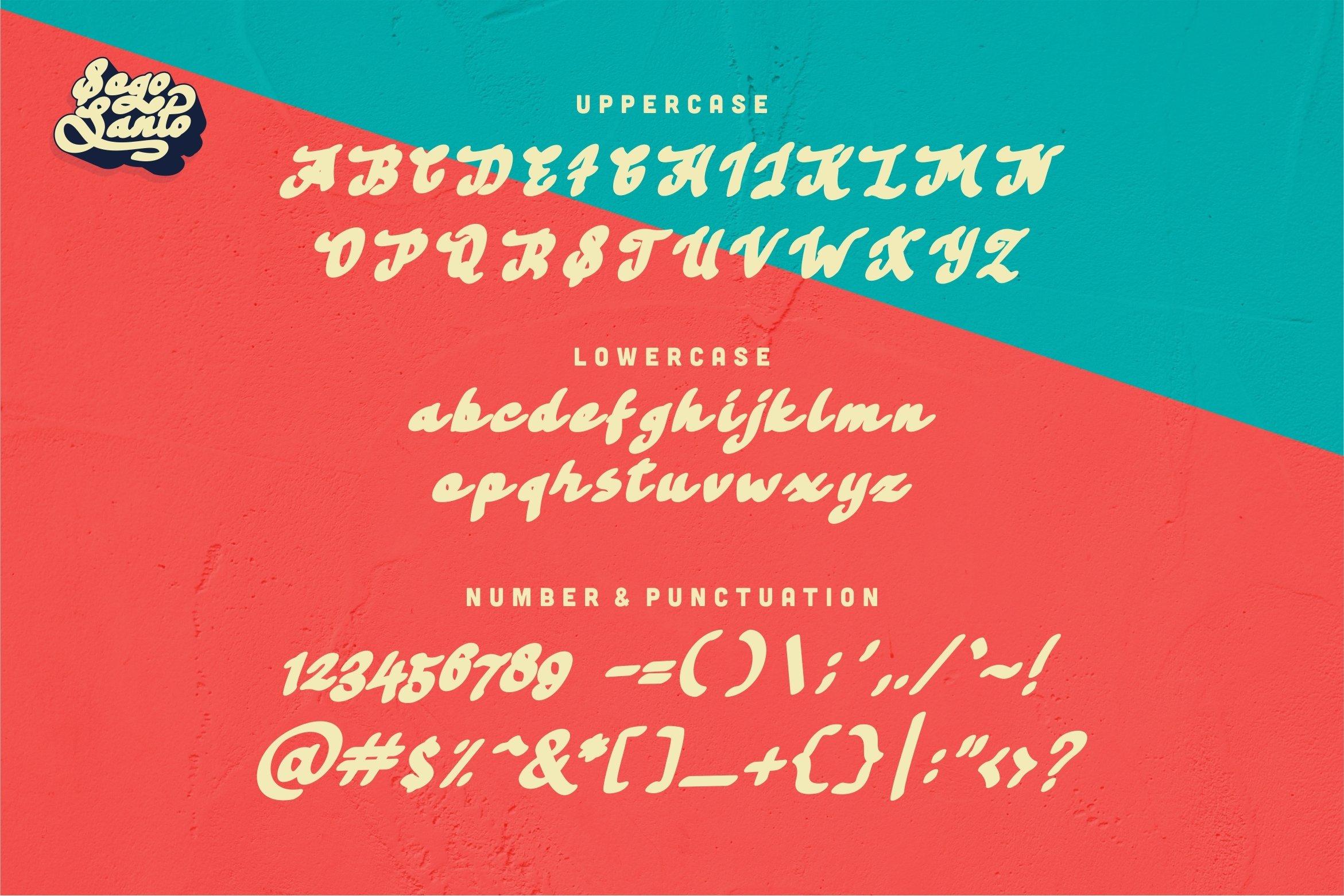 Sogo Santo - Bold & Smooth Retro Font example image 7