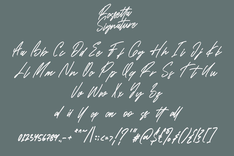 Rossetta - Signature Fonts example image 5