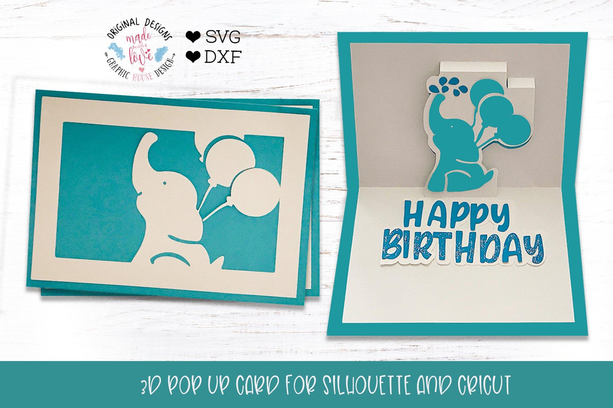 Happy Birthday Pop Up Card. example image 1