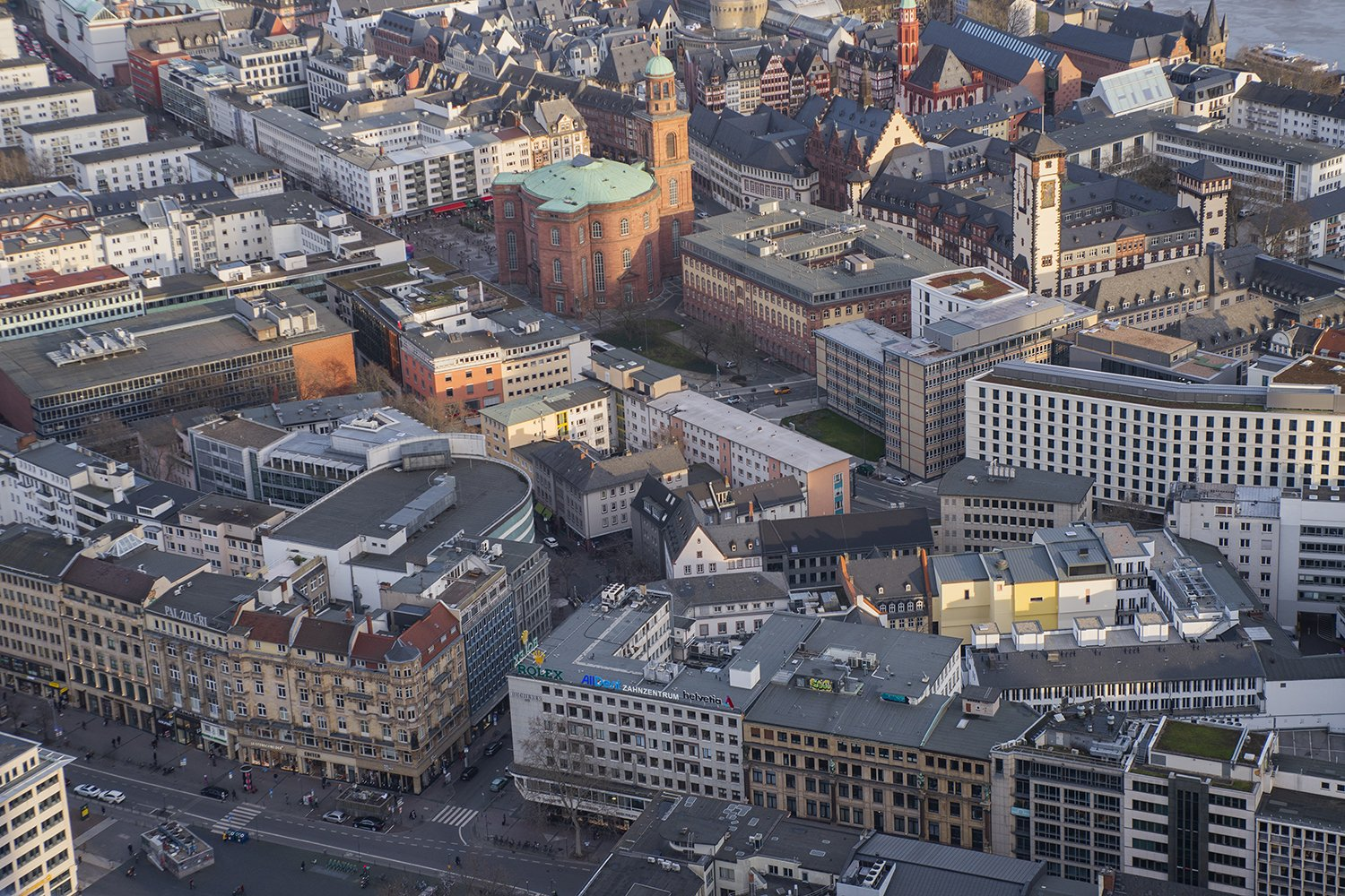 beautiful aerial view of the city of Frankfurt Germany example image 1