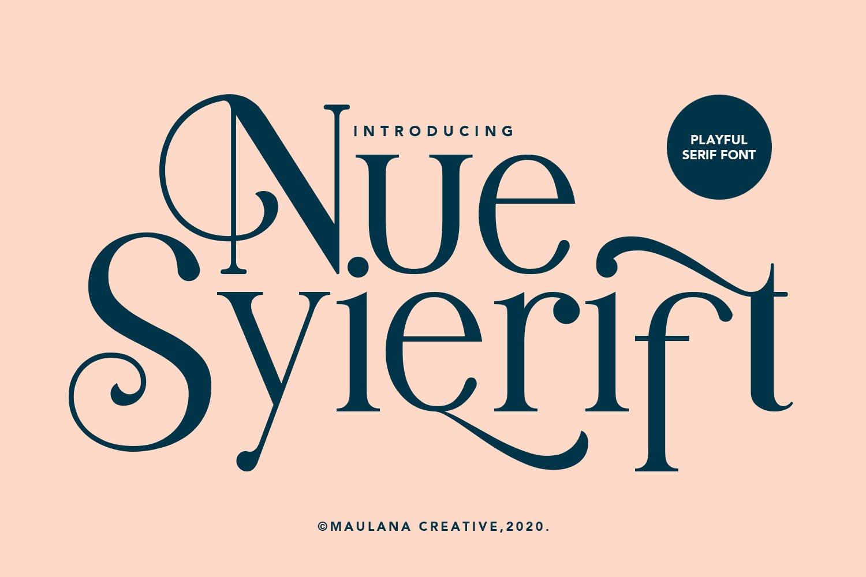 Nue Syierift - Playful Serif Font example image 1