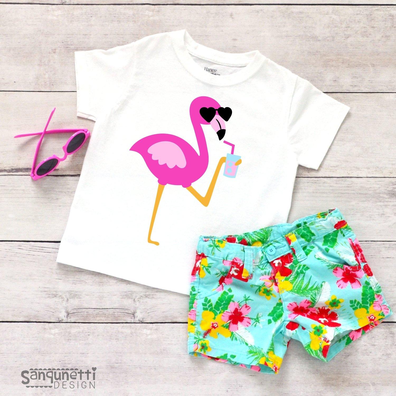 Flamingo SVG, pink flamingo summer cutting file example image 2
