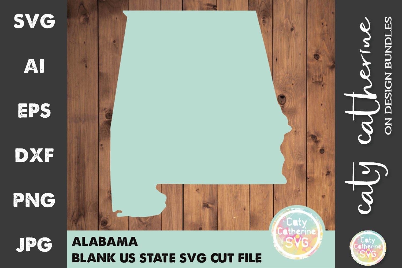Download Alabama Blank Template Us State Svg Cut File 659043 Svgs Design Bundles