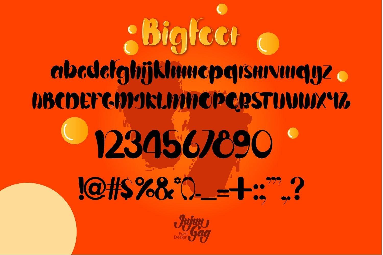 Bigfoot Typeface Layered Font example image 5