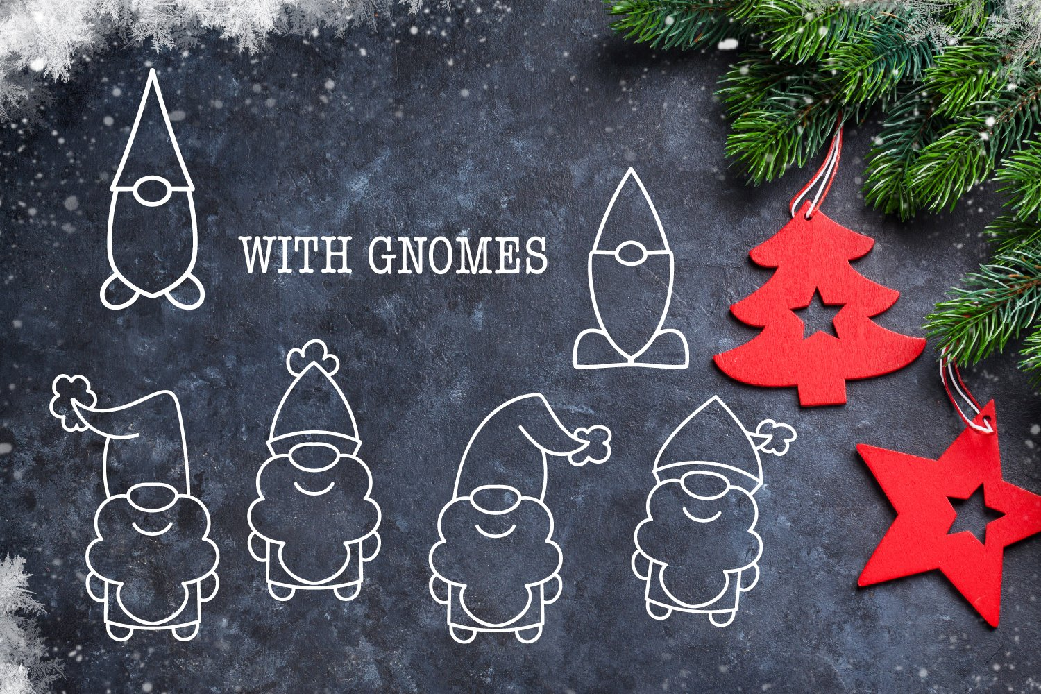 Christmas Dudes - A Christmas Dingbat Font example image 5