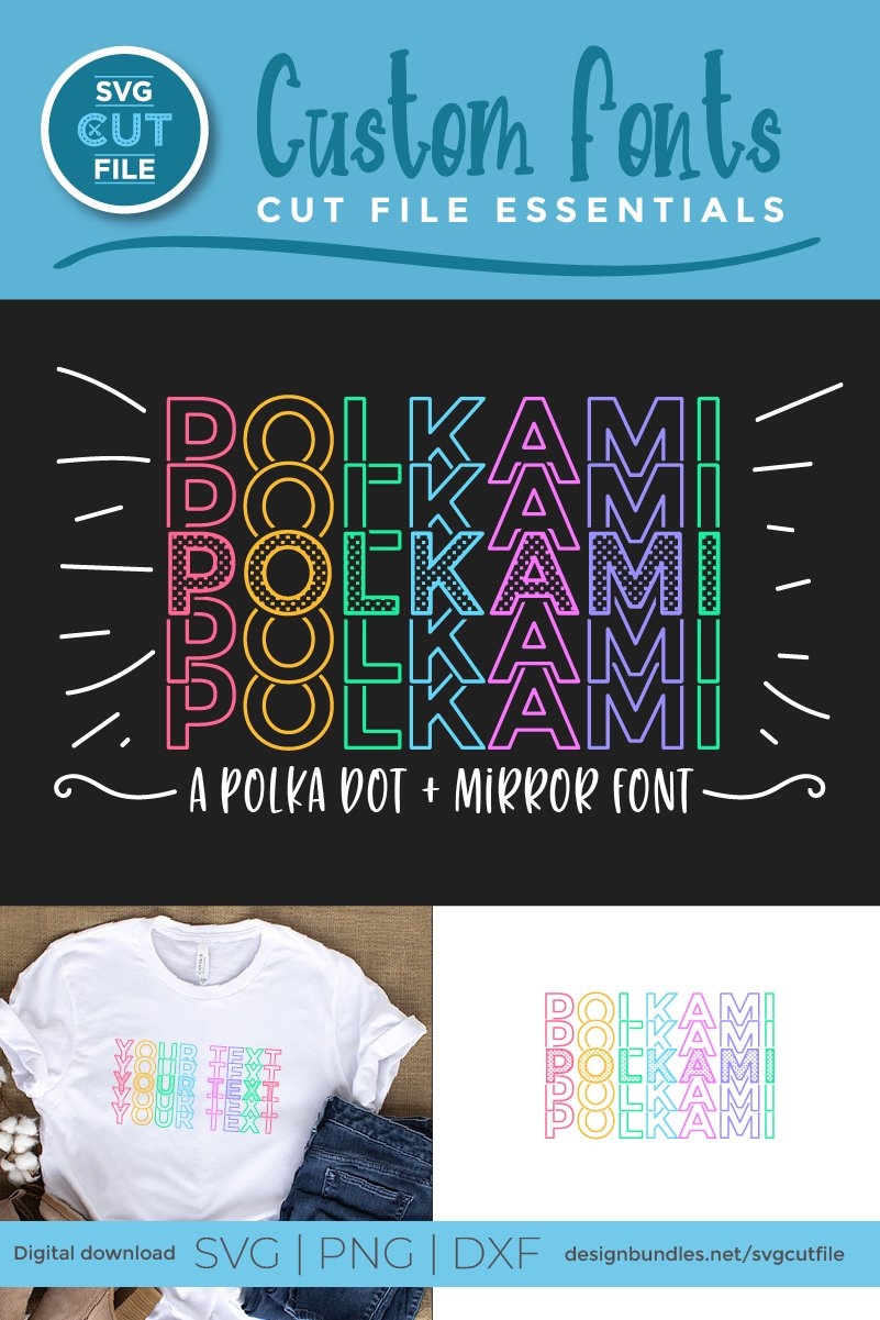 Polkami - a polka dot mirror font with stacked letters OTF example image 2