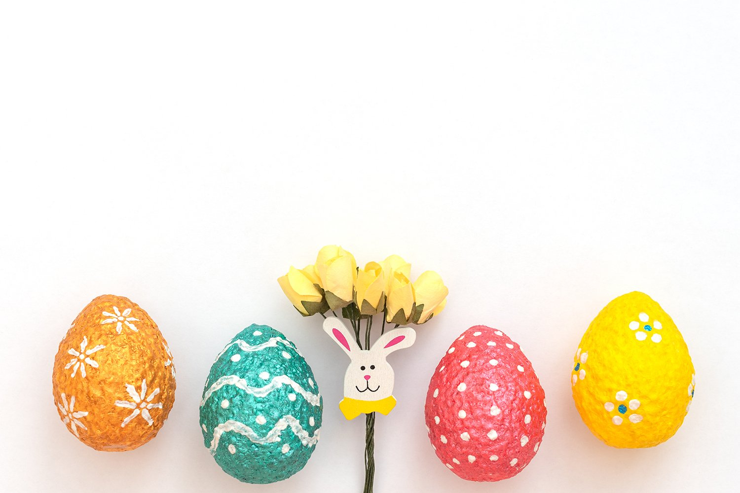 Easter eggs with Easter rabbit example image 1
