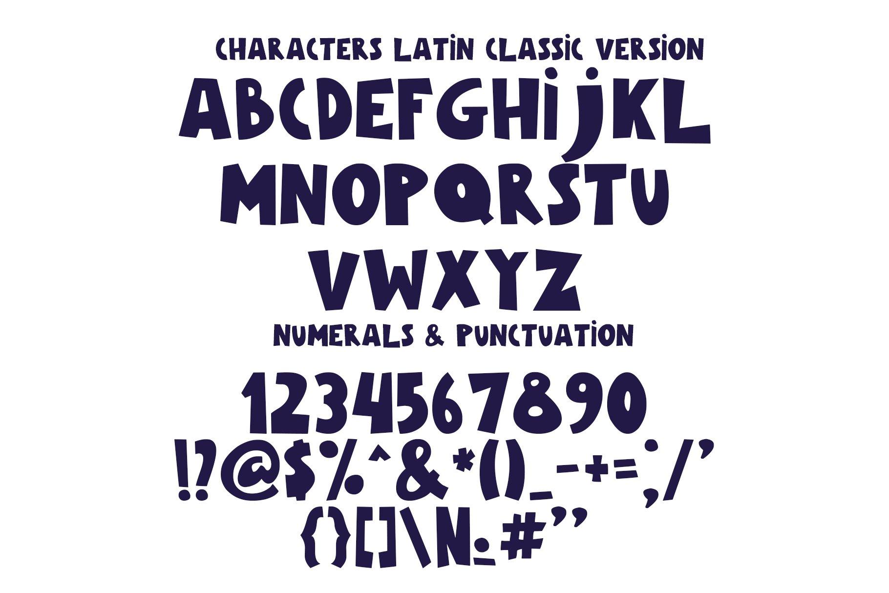 Galaxy Color Bitmap Font example image 6