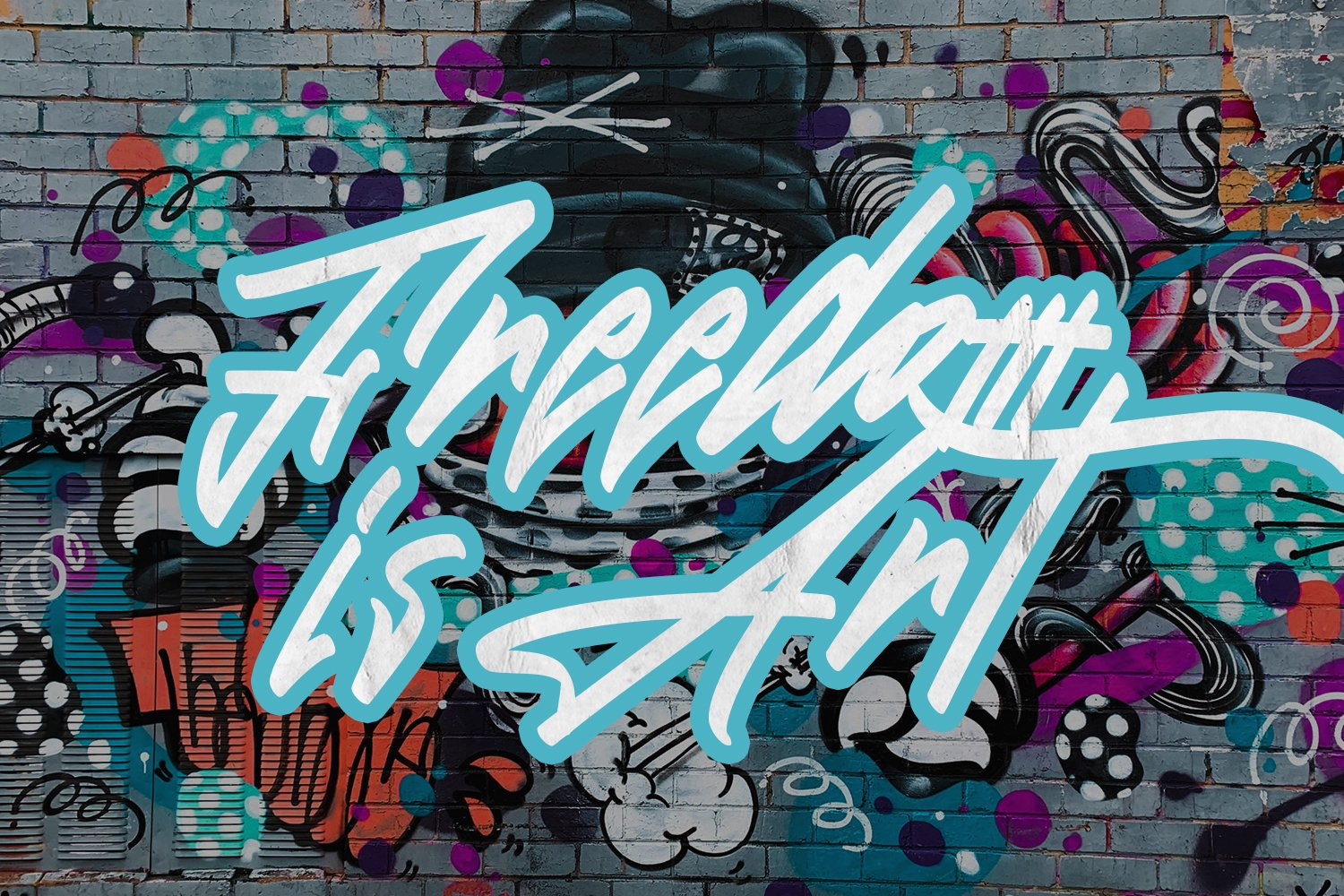 The Graffiti Font | Free Text Effect example image 6