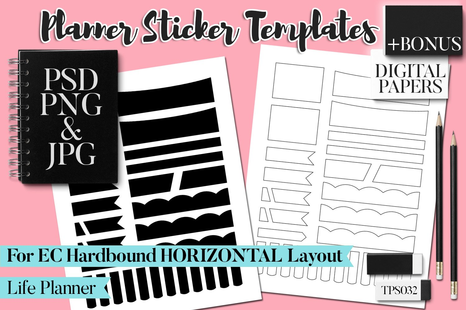 Planner Stickers Templates - Bundle Vol. 11 example image 10