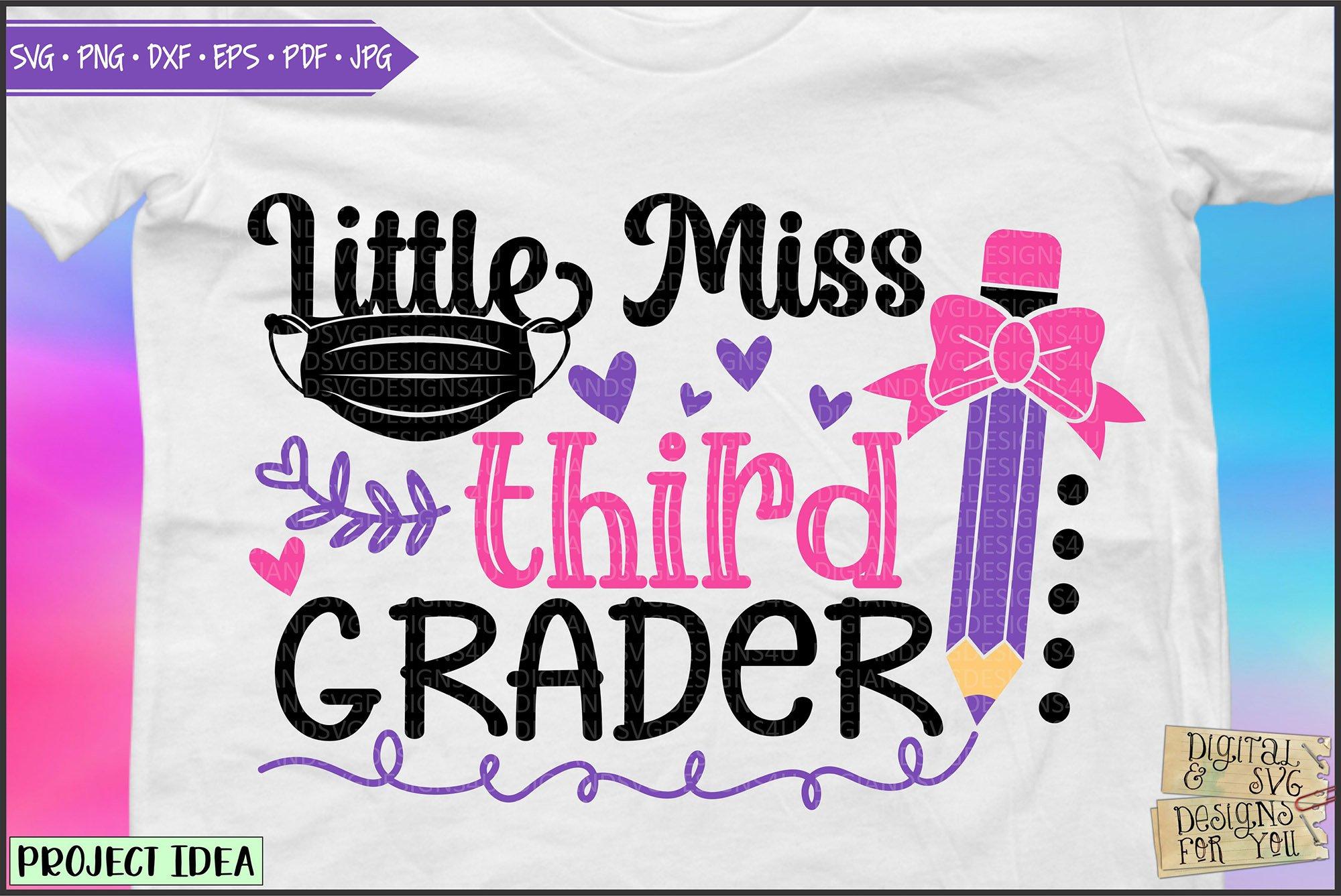Little Miss Third Grader 3rd Grade School Svg Png Dxf 754265 Cut Files Design Bundles