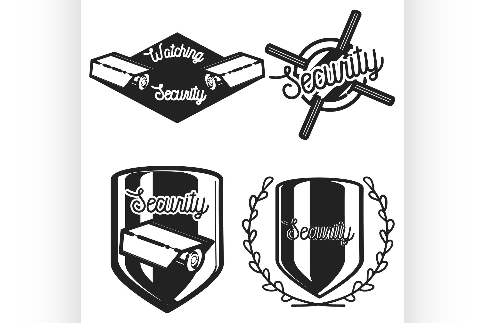 Vintage security emblems example image 1