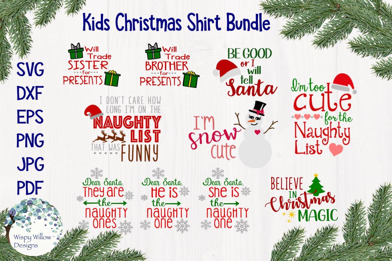 Kids Christmas Shirt Bundle Funny Christmas Svg Cut Files 146586 Svgs Design Bundles