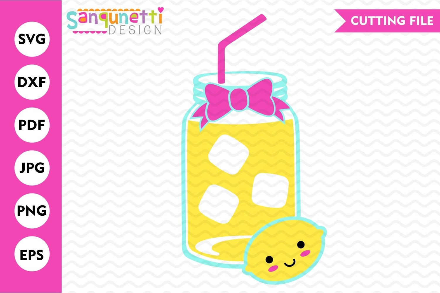 Lemonade SVG, summer drink cut file example image 1
