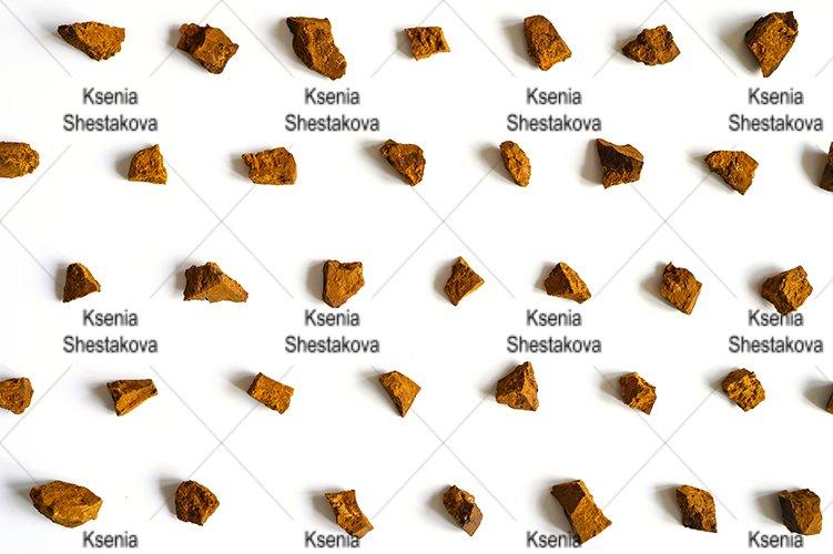 chaga mushroom broken pieces of birch tree fungus. pattern example image 1
