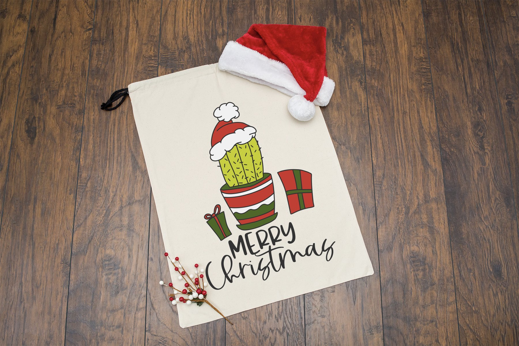 Merry Christmas SVG | Cactus SVG example image 2