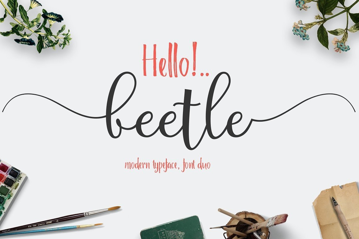 Font Bundle includes 54 fonts in 40 Typefaces example image 4