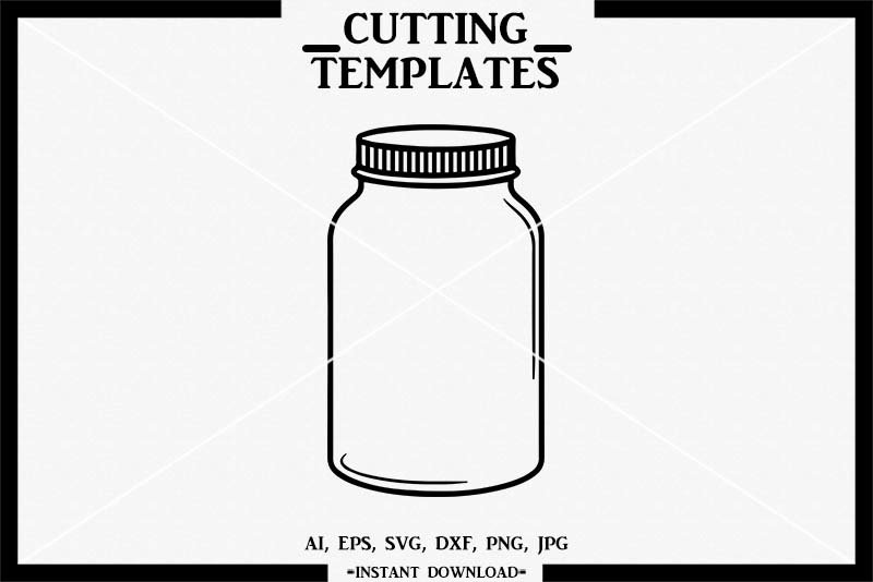 Free Mothers day gifts in a jar for handmade gift lovers. Blank Mason Jar Mason Jar Svg Silhouette Cricut Cameo 792918 Cut Files Design Bundles SVG, PNG, EPS, DXF File