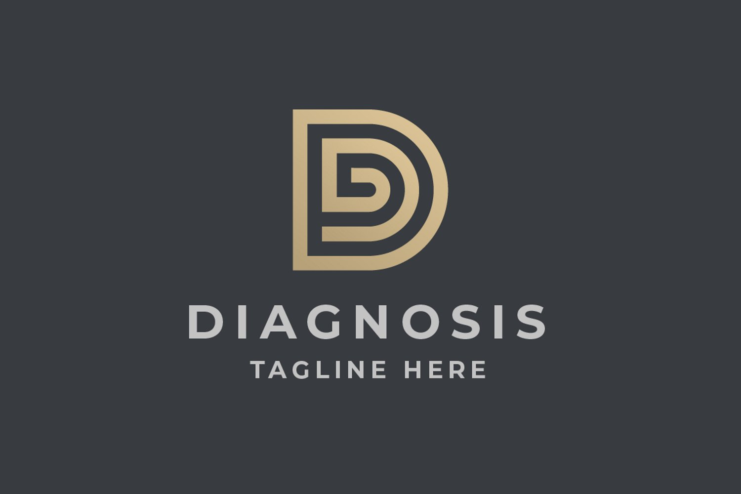 Diagnosis Letter D Logo example image 1