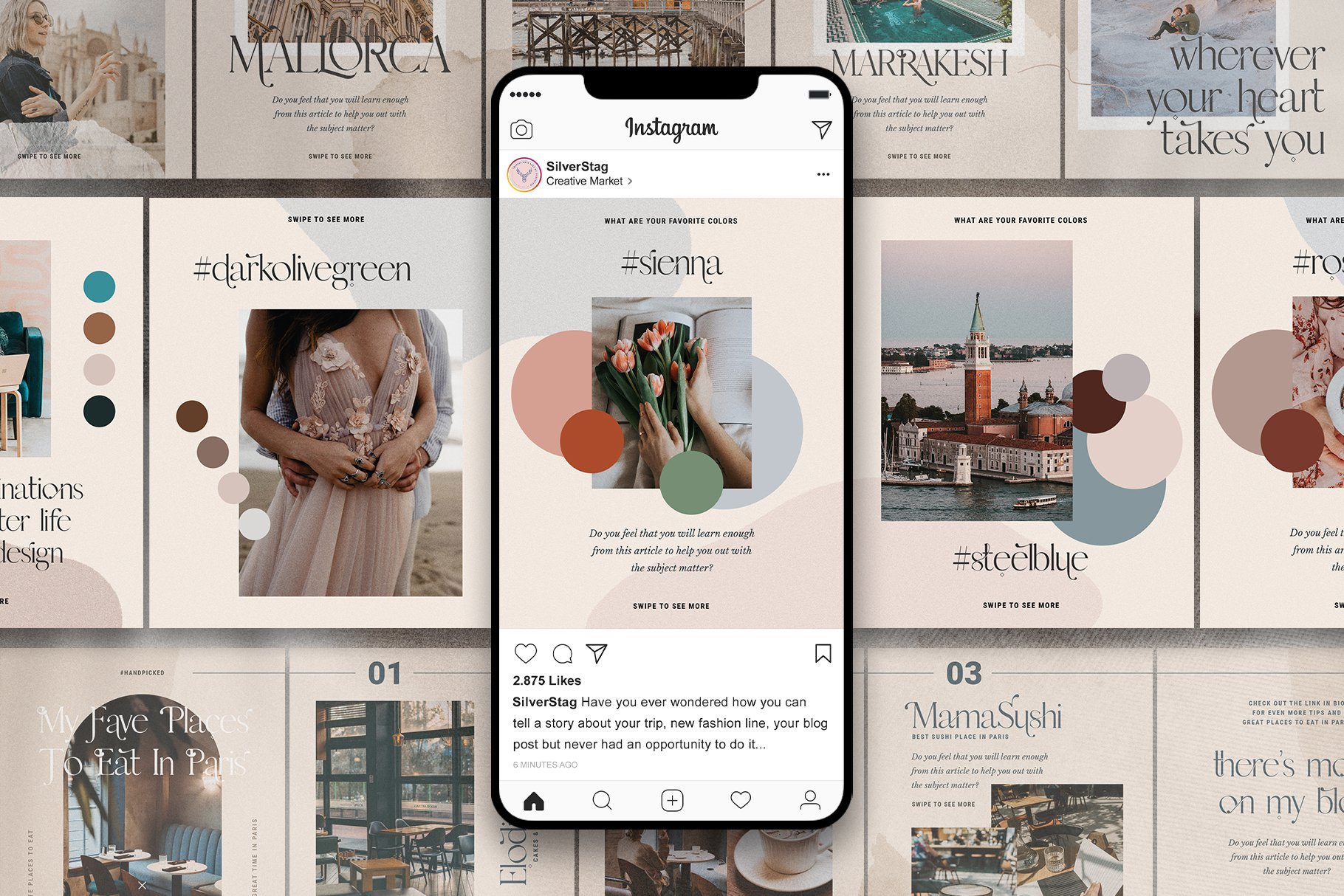 #InstaFlow Carousel Posts & Stories example image 1