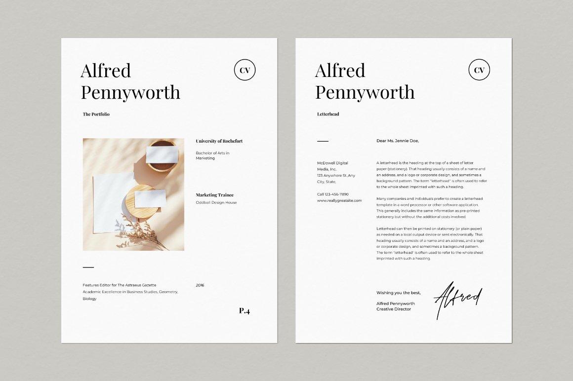 Resume & Portfolio Template - Alfred example image 2